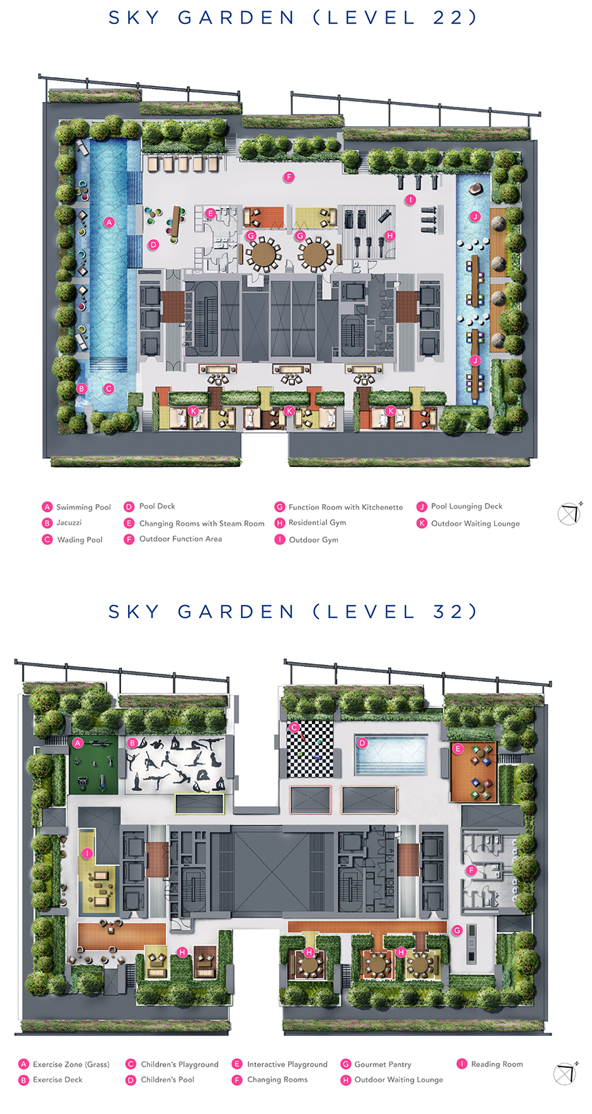 Site Plan of Sky Garden South Beach Residences