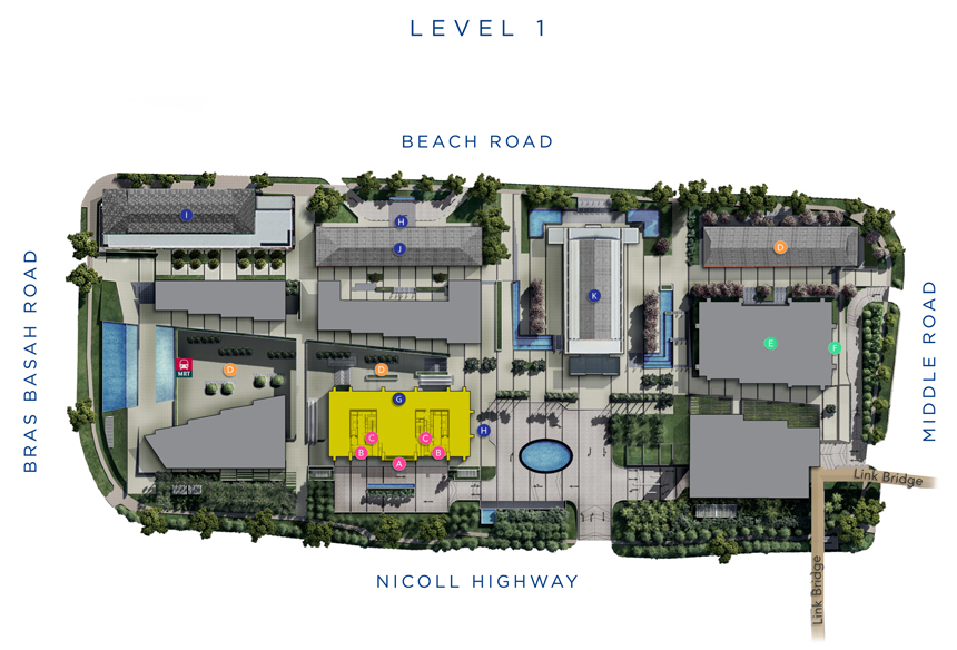 Site Plan of South Beach Residences
