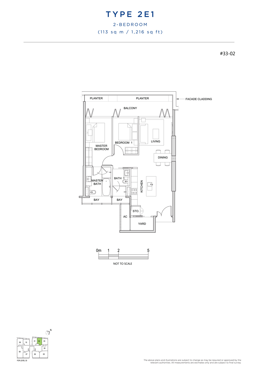 2E1 floor plan south beach residences