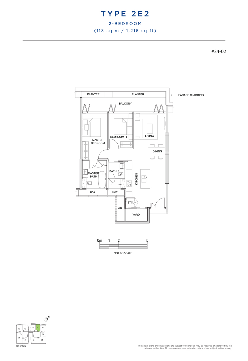 2E2 floor plan south beach residences