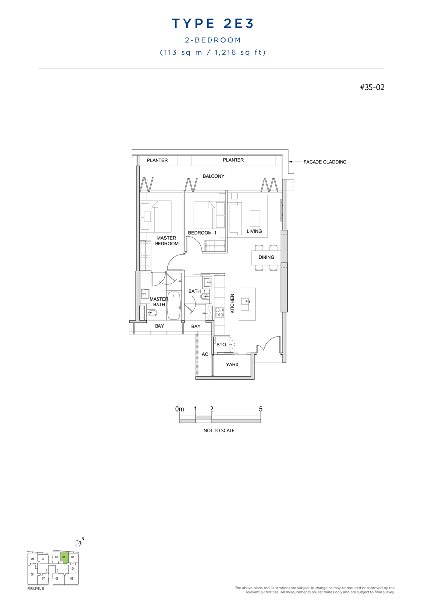 2E3 floor plan south beach residences