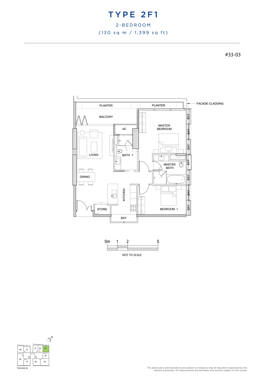 2F1 floor plan south beach residences