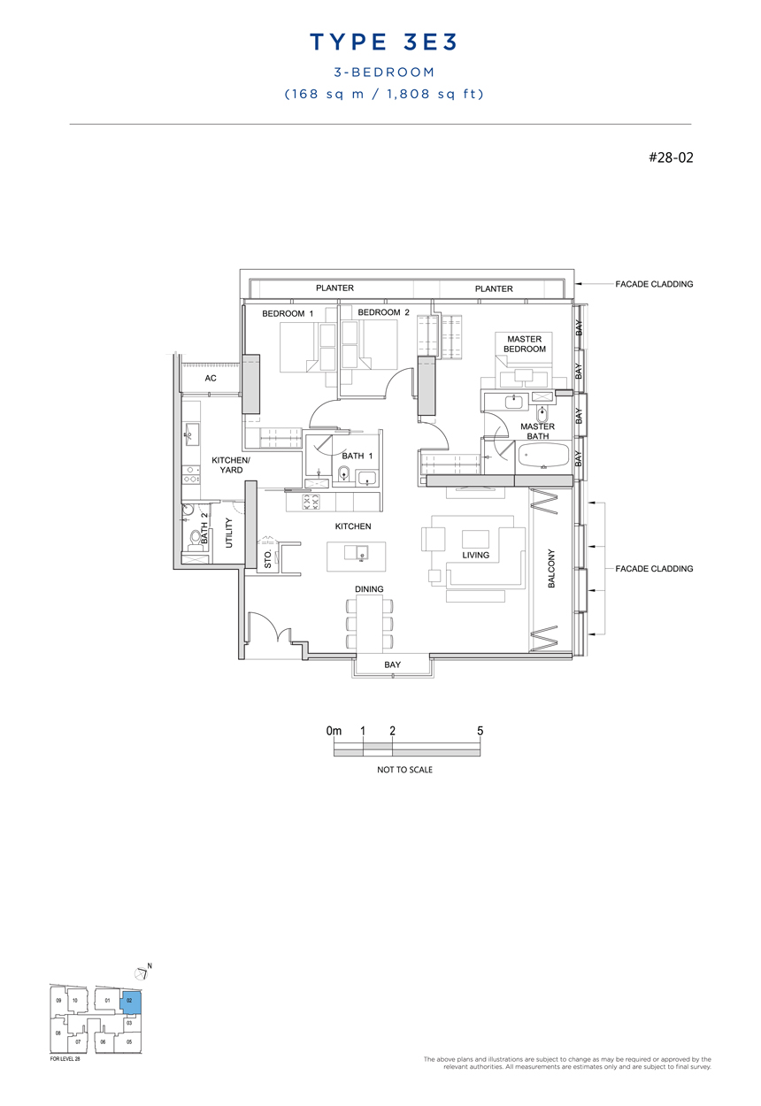3E3 floor plan South Beach Residences