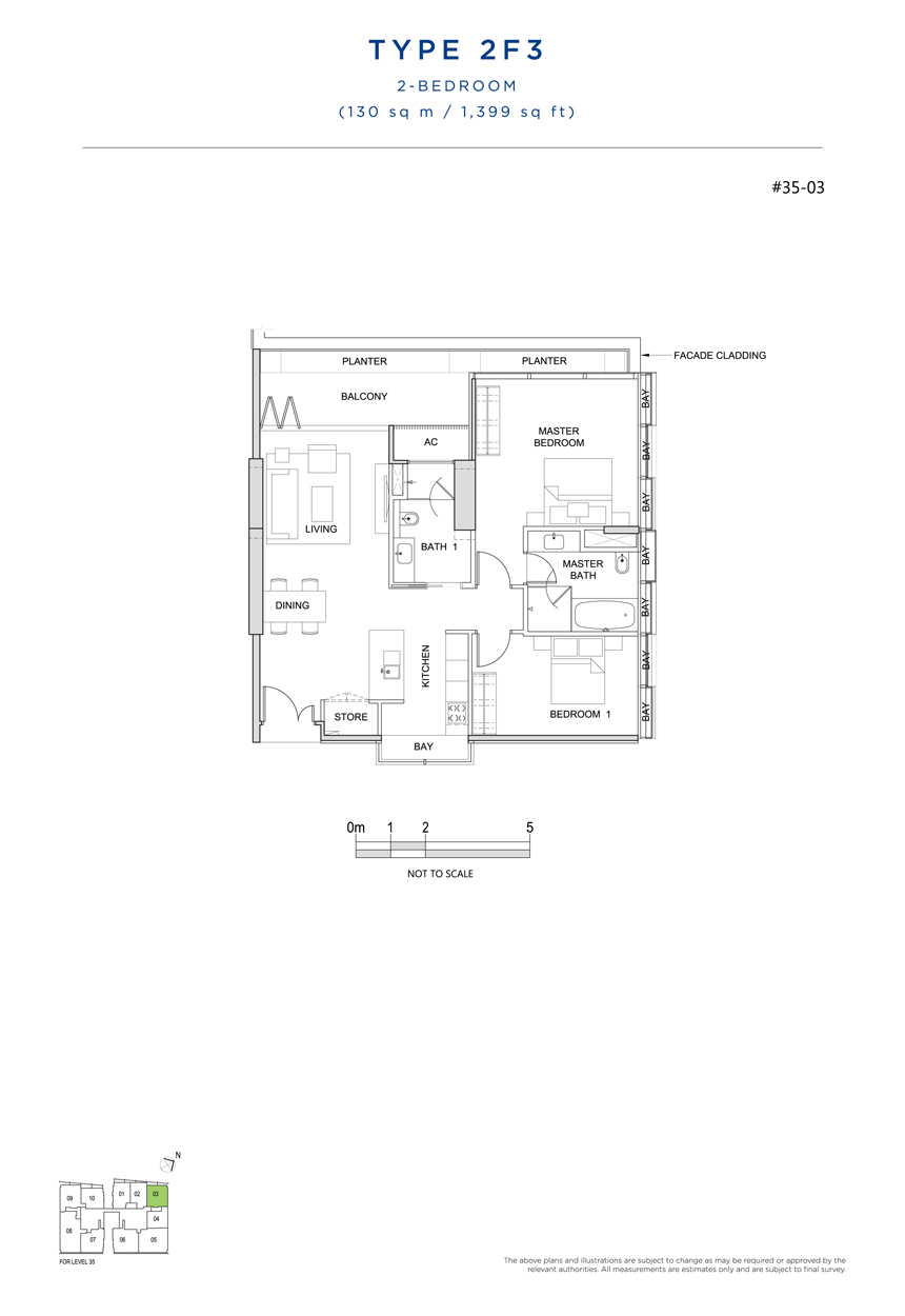 2F3 floor plan south beach residences