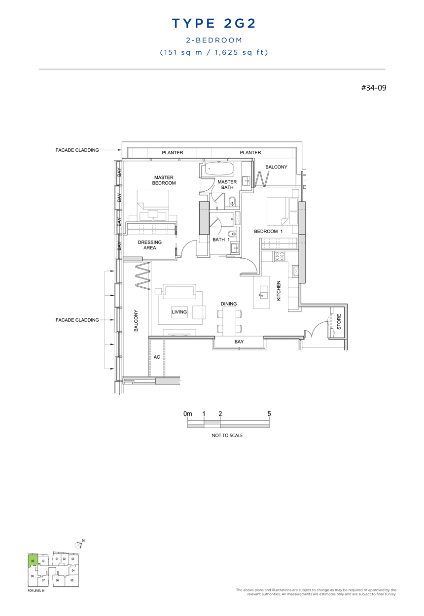 2G2 floor plan south beach residences
