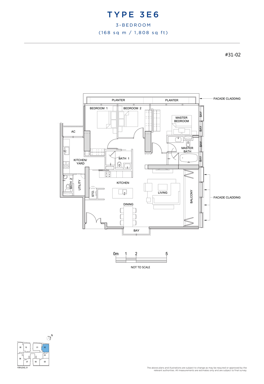 3E6 floor plan South Beach Residences