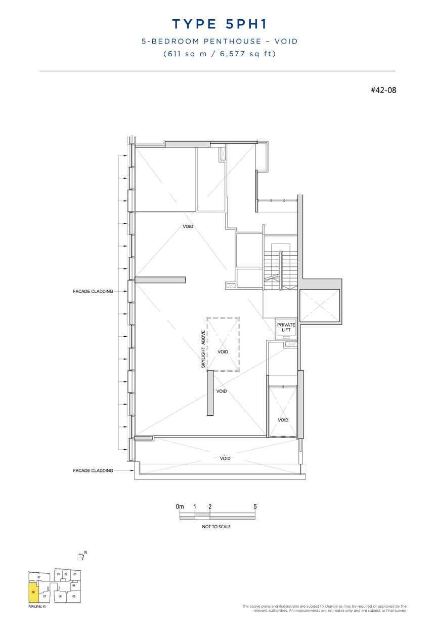 Penthouse 5PH1 void floor plan South Beach Residences