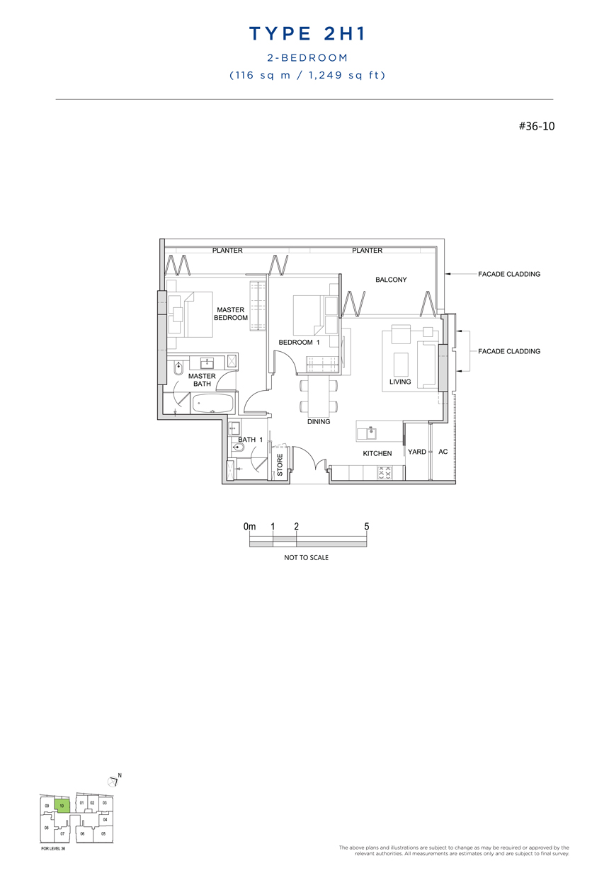 2H1 floor plan south beach residences