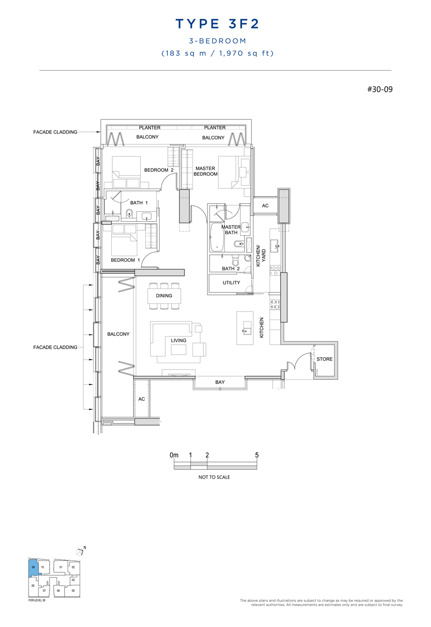 3F2 floor plan South Beach Residences