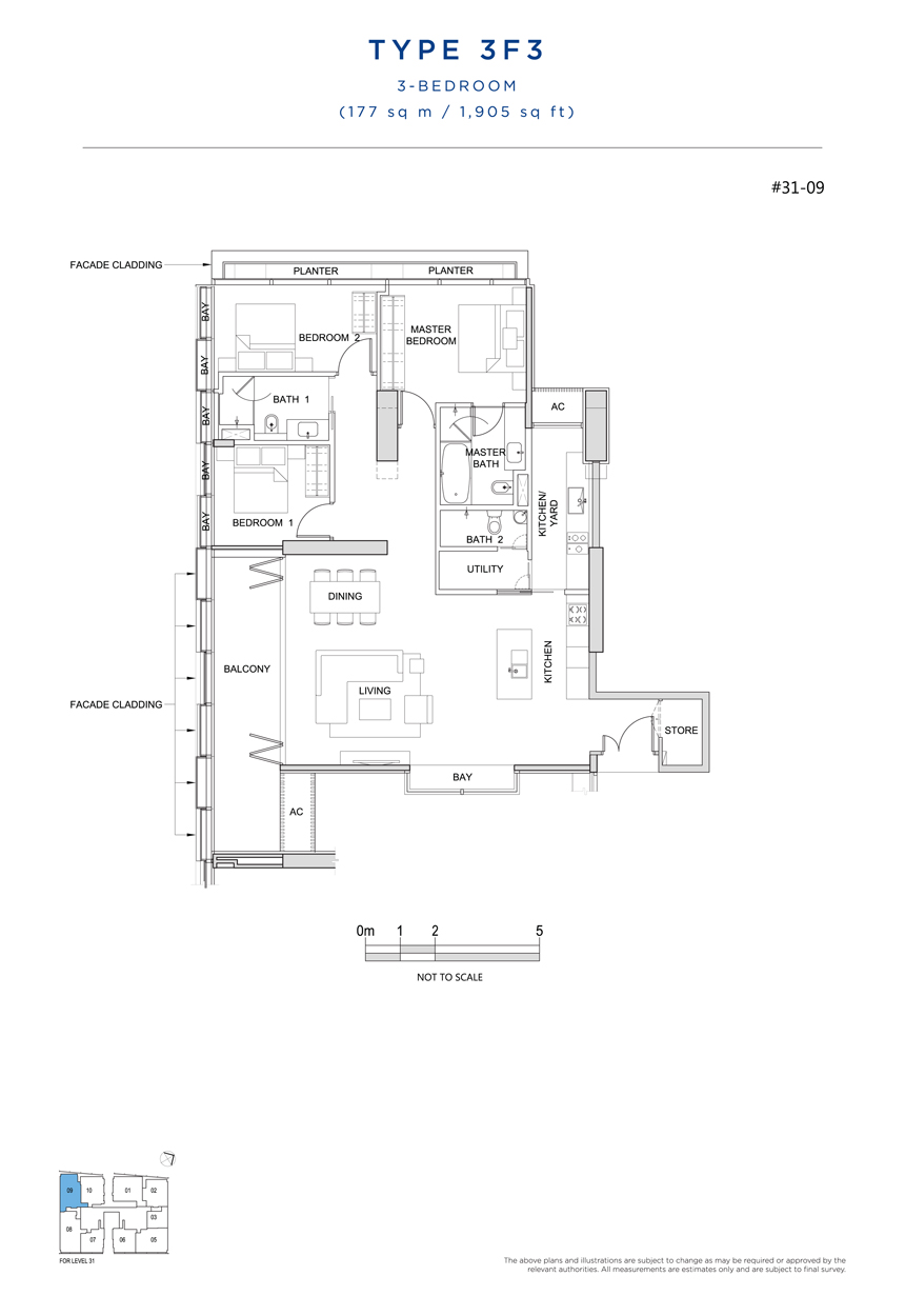 3F3 floor plan South Beach Residences