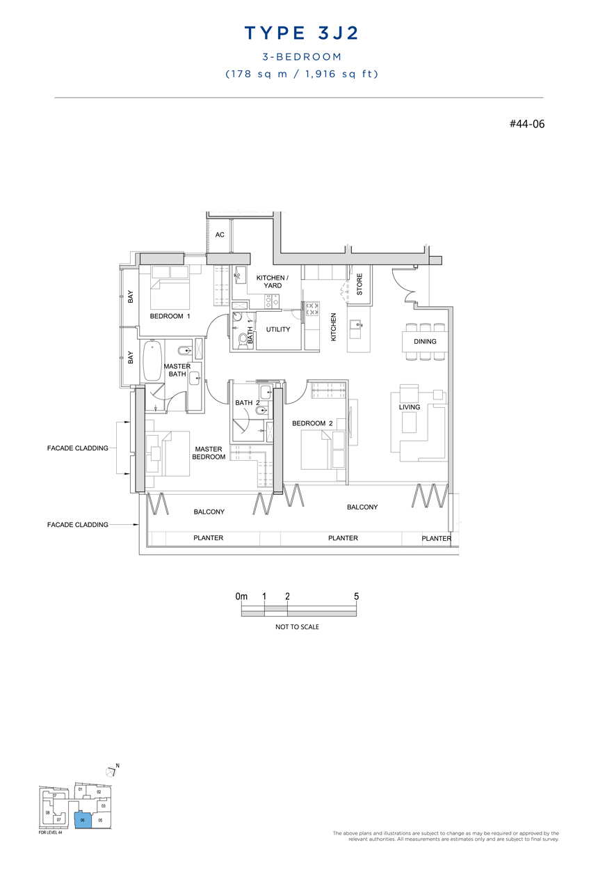 3J2 floor plan South Beach Residences