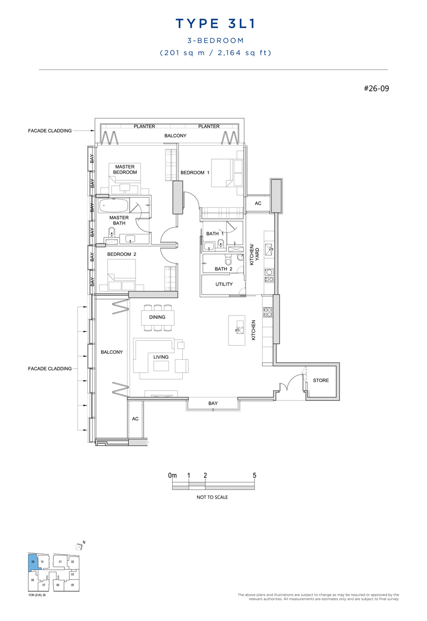 3L1 floor plan South Beach Residences