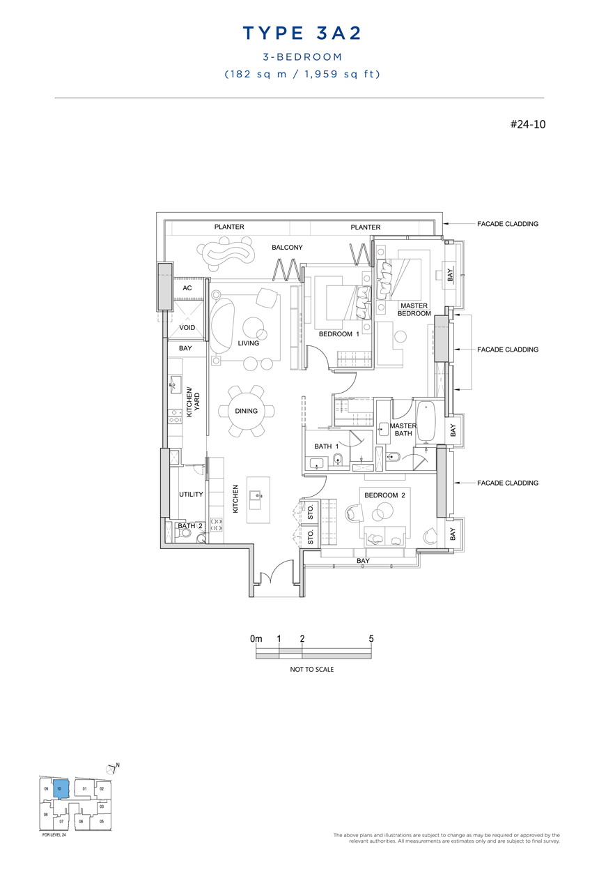 3A2 floor plan South Beach Residences