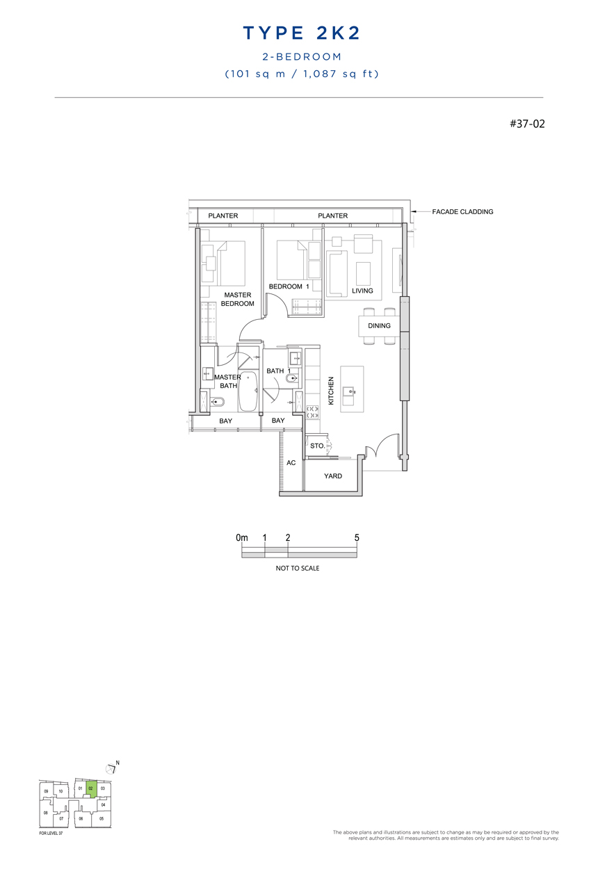 2K2 floor plan south beach residences