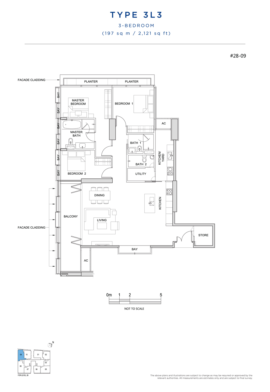 3L3 floor plan South Beach Residences