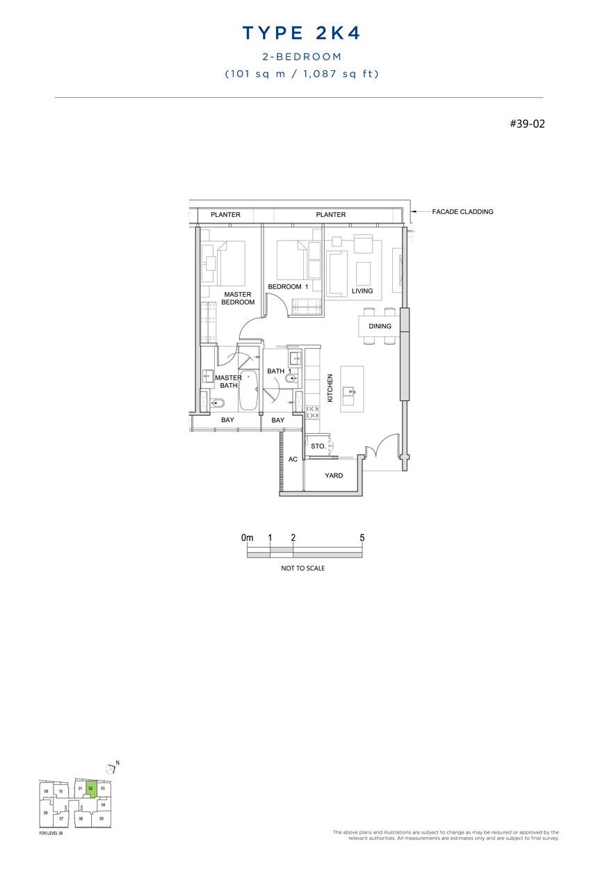 2K4 floor plan south beach residences