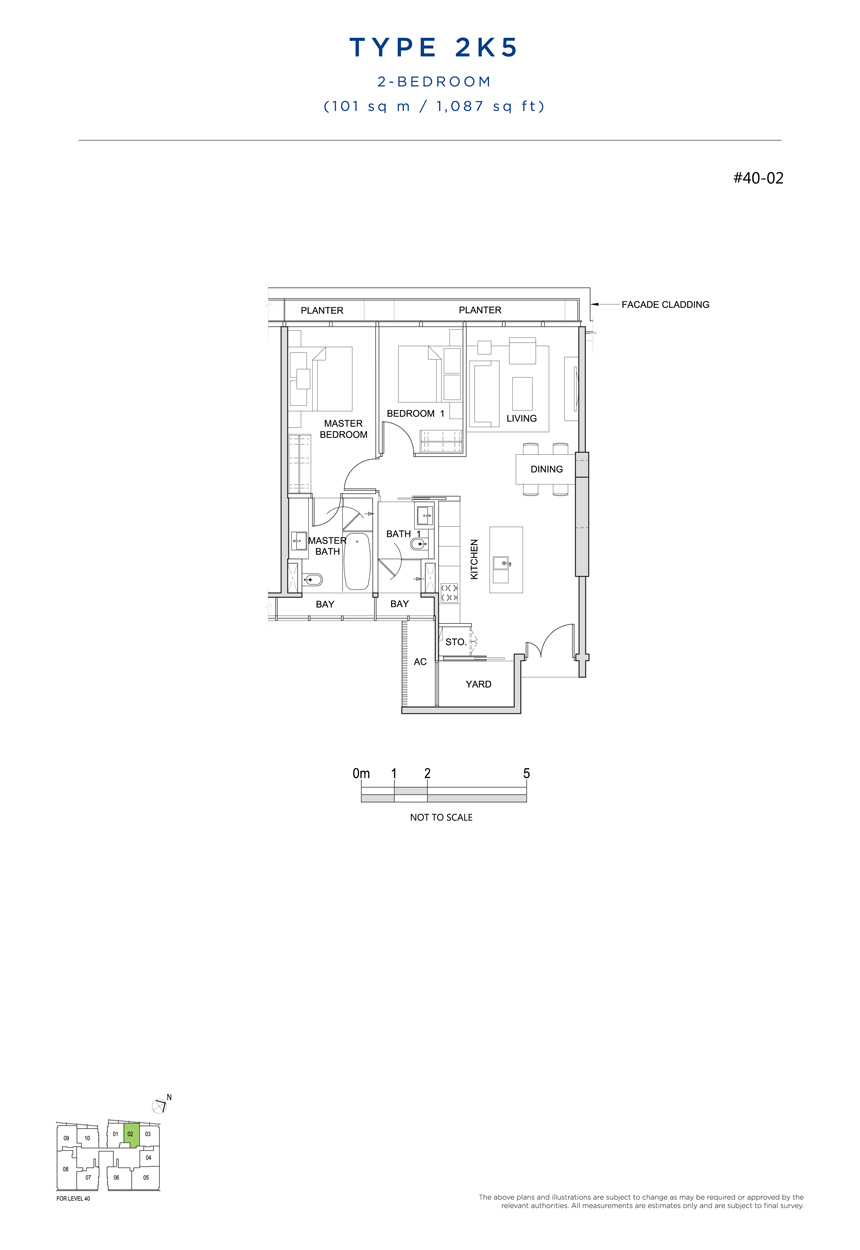 2K5 floor plan south beach residences