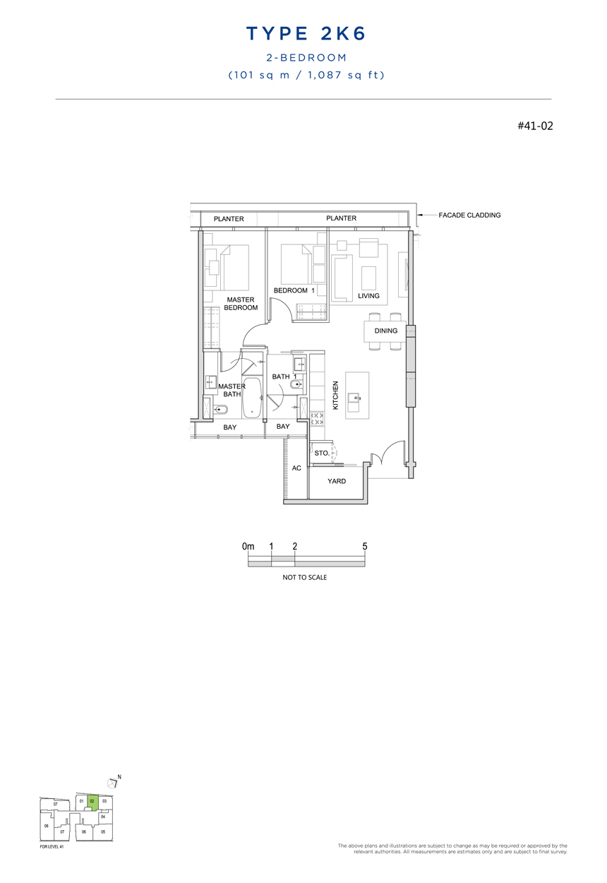 2K6 floor plan south beach residences