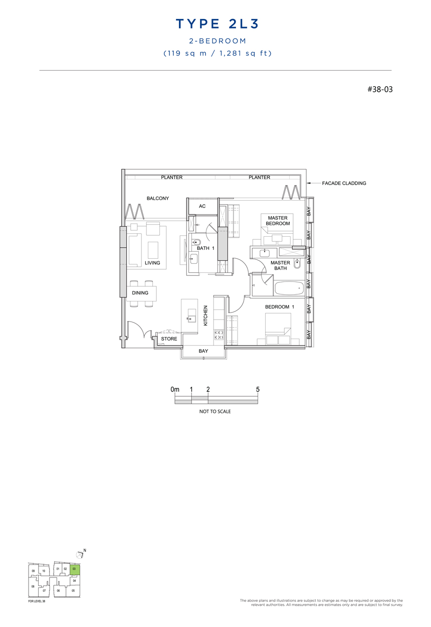 2L3 floor plan south beach residences