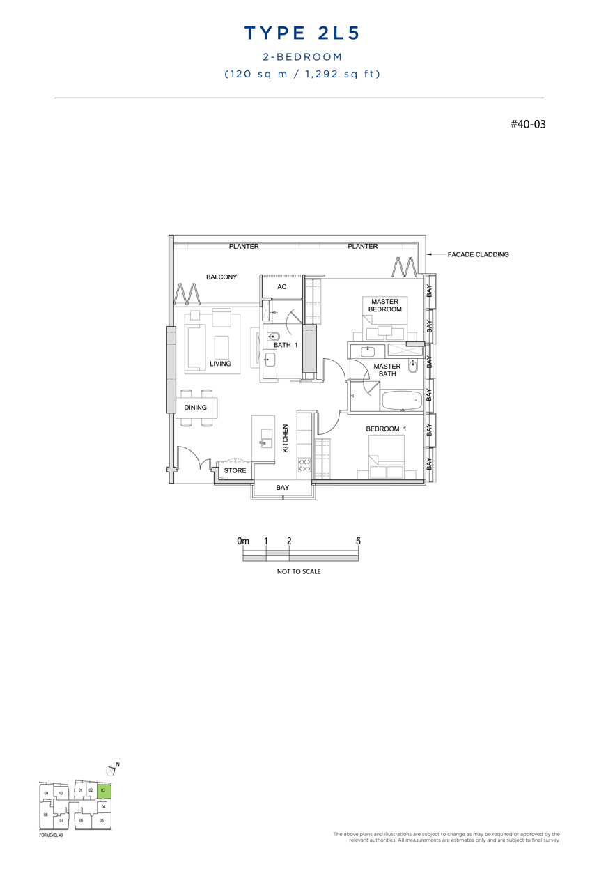 2L5 floor plan south beach residences