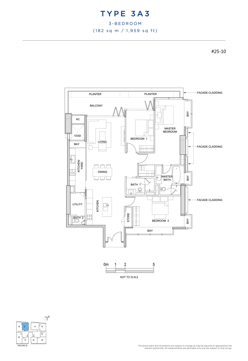 3A3 floor plan South Beach Residences