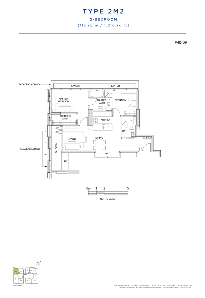 2M2 floor plan south beach residences