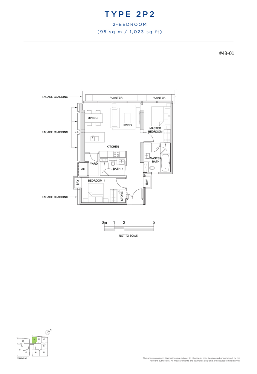 2P2 floor plan south beach residences