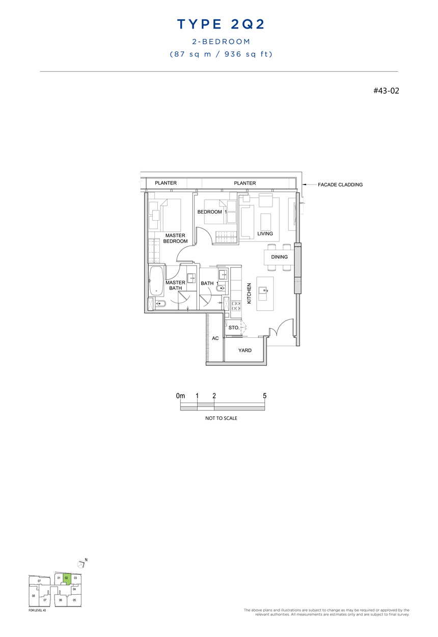 2Q2 floor plan south beach residences