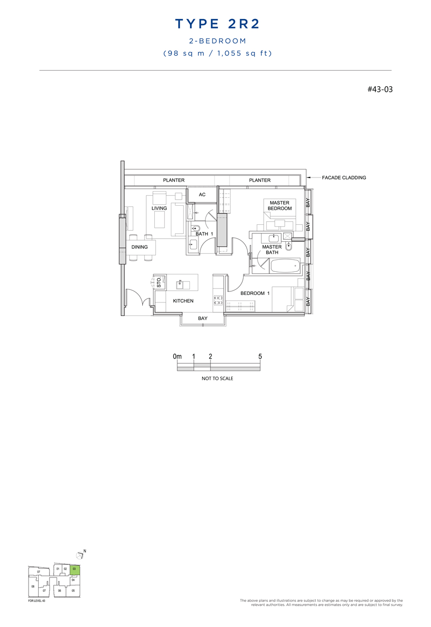 2R2 floor plan south beach residences