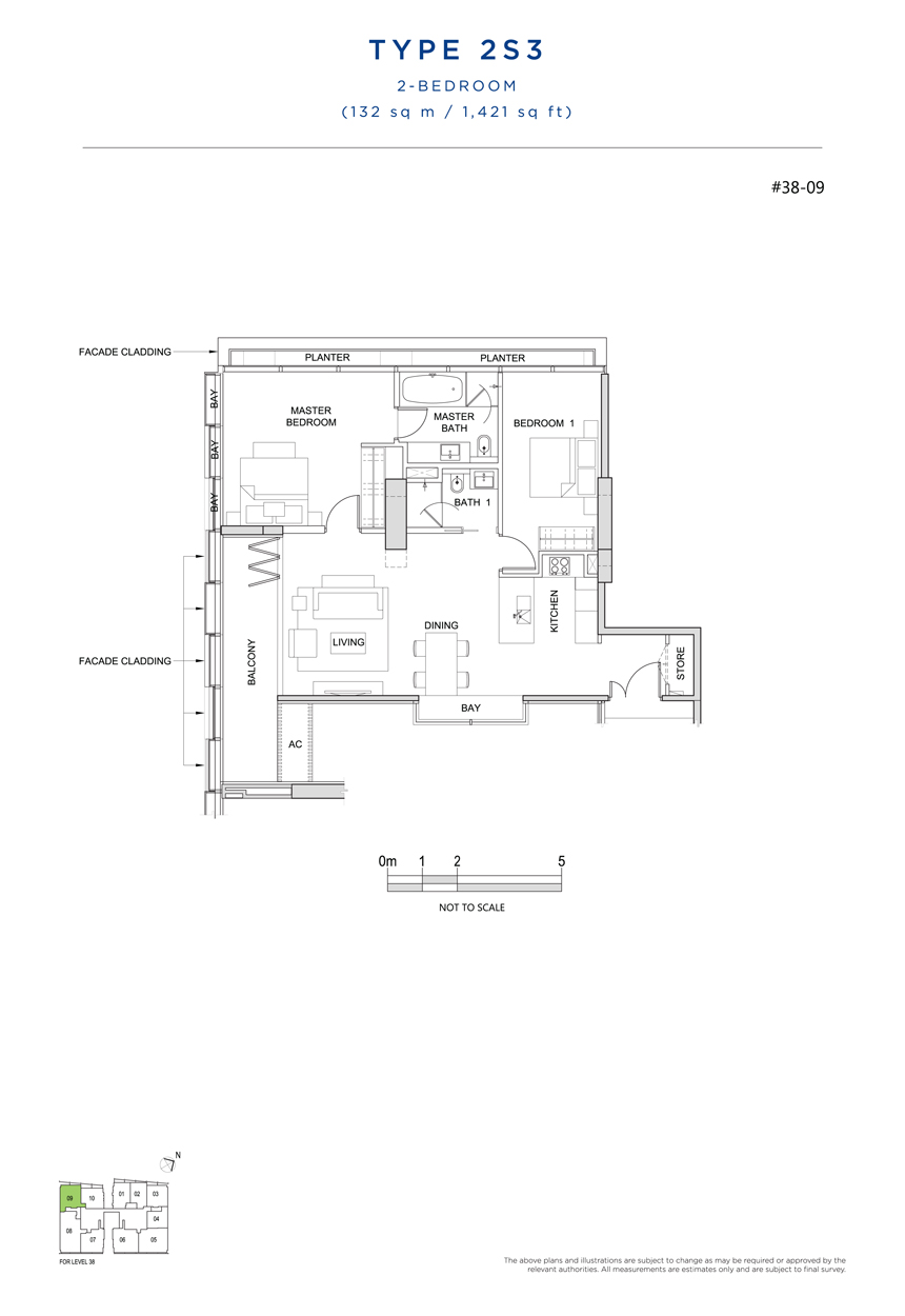 2S3 floor plan south beach residences