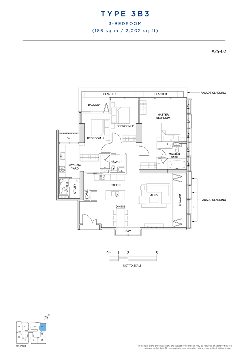 3B3 floor plan South Beach Residences